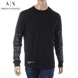 アルマーニエクスチェンジ A|X ARMANI EXCHANGE クルーネックTシャツ 長袖 メンズ 6GZTEH ZJH4Z ブラック 2019秋冬新作