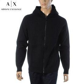 アルマーニエクスチェンジ A|X ARMANI EXCHANGE パーカー メンズ スウェット ブランド ジップアップ 6HZE1H ZMU8Z ブラック 2020秋冬新作