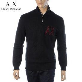 アルマーニエクスチェンジ A|X ARMANI EXCHANGE ニット メンズ セーター ブランド ハーフジップ 6HZM1N ZMN4Z ブラック 2020秋冬新作