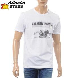 アトランティックスターズ ATLANTIC STARS クルーネックTシャツ 半袖 メンズ AMS1837 ホワイト