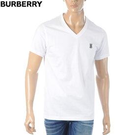 バーバリー BURBERRY VネックTシャツ メンズ 半袖 8017258 ホワイト 2020春夏新作