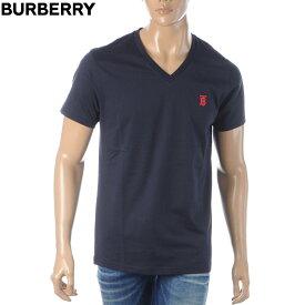 バーバリー BURBERRY VネックTシャツ メンズ 半袖 8017256 ネイビー