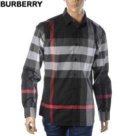 バーバリー BURBERRY シャツ 長袖 メンズ 8023772 ブラック 2020秋冬新作