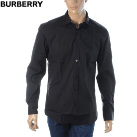 バーバリー BURBERRY ストレッチコットンポプリンシャツ 長袖 メンズ 8032305 ブラック 2021春夏セール