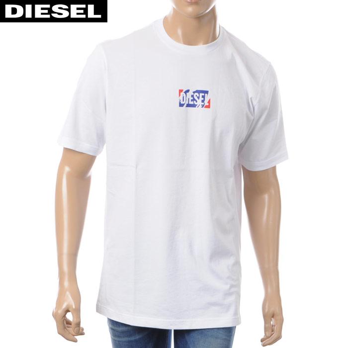 ディーゼル DIESEL クルーネックTシャツ 半袖 メンズ T-JUST-ZC 00SDMQ-0EADQ ホワイト 2018春夏セール