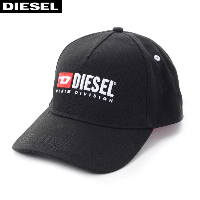 ディーゼル DIESEL ベースボールキャップ 帽子 メンズ AKERYM-MAX 00SIIQ-0LAOI ブラック 2018秋冬新作