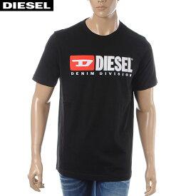 ディーゼル DIESEL クルーネックTシャツ 半袖 メンズ T-JUST-DIVISION 00SH0I-0CATJ ブラック