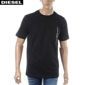 ディーゼル DIESEL クルーネックTシャツ 半袖 メンズ T-JUST-POCKET 00SH13-0BASU ブラック