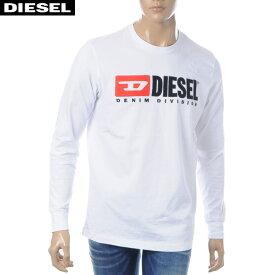 ディーゼル DIESEL クルーネックTシャツ 長袖 メンズ T-JUST-LS-DIVISION 00SLJY-0CATJ ホワイト