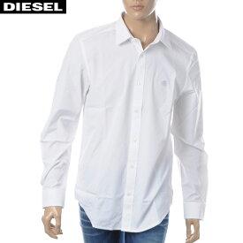 ディーゼル DIESEL コットンシャツ 長袖 メンズ S-BILL 00SHYK-0DAUU ホワイト 2019春夏新作