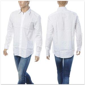 ディーゼルDIESELカジュアルシャツ長袖メンズS-TUDS00SNUX-0QAVMホワイト