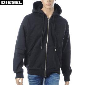 ディーゼル DIESEL ジップアップパーカー メンズ S-ALBY 00SNS0-0IAEG ブラック
