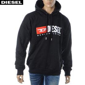 ディーゼル DIESEL プルオーバーパーカー スウェット メンズ S-DIVISION 00SH34-0CATK ブラック 2019秋冬新作