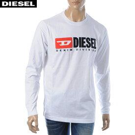 ディーゼル DIESEL クルーネックTシャツ 長袖 メンズ T-JUST-LS-DIVISION 00SLJY-0CATJ ホワイト 2019秋冬セール