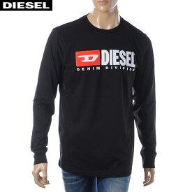 ディーゼル DIESEL クルーネックTシャツ 長袖 メンズ T-JUST-LS-DIVISION 00SLJY-0CATJ ブラック 2019秋冬セール