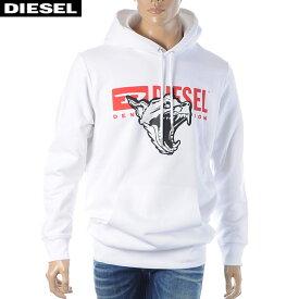 ディーゼル DIESEL プルオーバーパーカー スウェット メンズ S-GIR-HOOD-BX1 00S02W-0EAXH ホワイト 2019秋冬セール