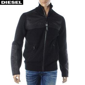 ディーゼル DIESEL ジップアップニット セーター メンズ K-MANY 00SXVL-0IAVF ブラック 2019秋冬新作