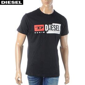 ディーゼル DIESEL クルーネックTシャツ メンズ 半袖 T-DIEGO-CUTY 00SDP1-0091A ブラック 2020春夏新作