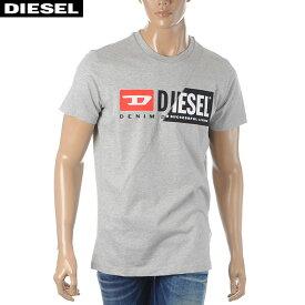 ディーゼル DIESEL クルーネックTシャツ メンズ 半袖 T-DIEGO-CUTY 00SDP1-0091A グレー 2020春夏新作