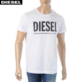 ディーゼル DIESEL クルーネックTシャツ メンズ 半袖 T-DIEGO-LOGO 00SXED-0AAXJ ホワイト 2020春夏新作