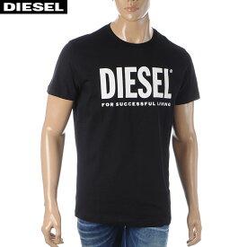 ディーゼル DIESEL クルーネックTシャツ メンズ 半袖 T-DIEGO-LOGO 00SXED-0AAXJ ブラック 2020春夏新作