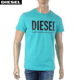 ディーゼル DIESEL クルーネックTシャツ メンズ 半袖 T-DIEGO-LOGO 00SXED-0AAXJ ターコイズブルー 2020春夏新作
