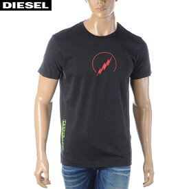 ディーゼル DIESEL クルーネックTシャツ メンズ 半袖 T-DIEGO-J5 00S4E6-0SAPC ブラック 2020春夏新作