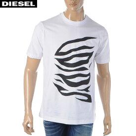 ディーゼル DIESEL クルーネックTシャツ メンズ 半袖 T-JUST-J9 00S4EB-0091A ホワイト 2020春夏新作