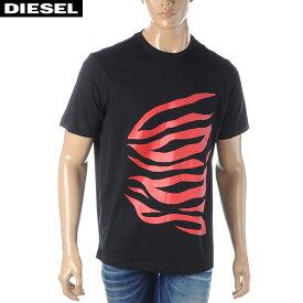 ディーゼル DIESEL クルーネックTシャツ メンズ 半袖 T-JUST-J9 00S4EB-0091A ブラック 2020春夏新作