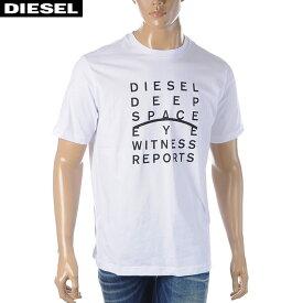 ディーゼル DIESEL クルーネックTシャツ メンズ 半袖 T-JUST-J5 00S4EL-0091A ホワイト 2020春夏新作