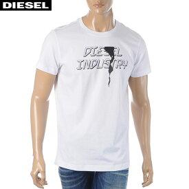 ディーゼル DIESEL クルーネックTシャツ メンズ 半袖 T-DIEGO-J25 00SDNX-0091A ホワイト 2020春夏新作