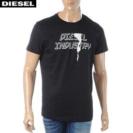 ディーゼル DIESEL クルーネックTシャツ メンズ 半袖 T-DIEGO-J25 00SDNX-0091A ブラック 2020春夏新作