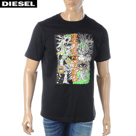 ディーゼル DIESEL クルーネックTシャツ メンズ 半袖 T-JUST-J13 00SDPA-0091A ブラック 2020春夏新作