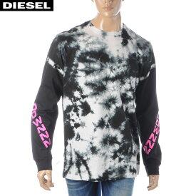ディーゼル DIESEL クルーネックTシャツ メンズ 長袖 T-JUST-LS-J6 00SDNU-0CAYE ブラック 2020春夏新作