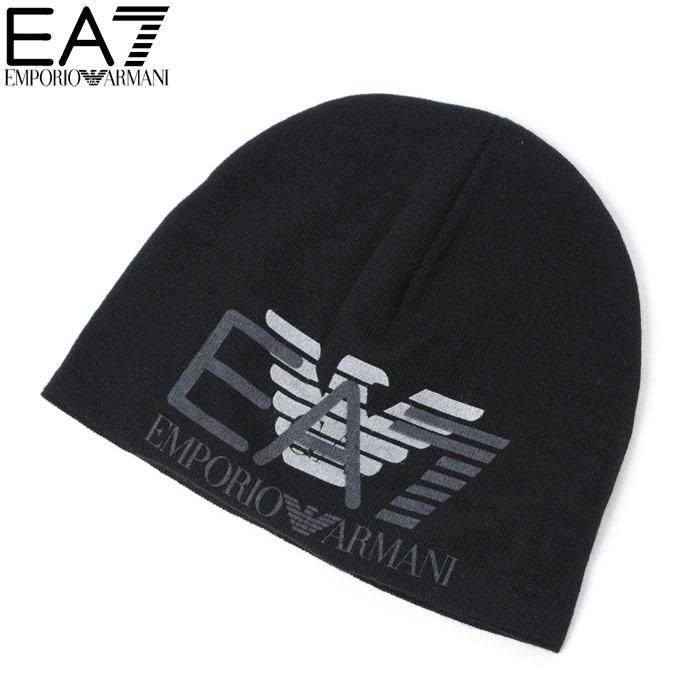 エンポリオアルマーニ EA7 EMPORIO ARMANI ニットキャップ ニット帽 メンズ 275638 7A393 ブラック