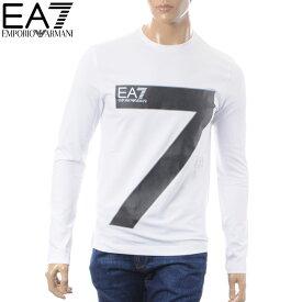 エンポリオアルマーニ EMPORIO ARMANI EA7 クルーネックTシャツ 長袖 メンズ 6ZPT32 PJ18Z ホワイト