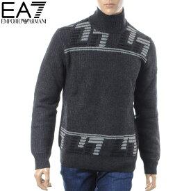 エンポリオアルマーニ EA7 EMPORIO ARMANI タートルネックニット セーター メンズ 6ZPMZ4 PM05Z ブラック