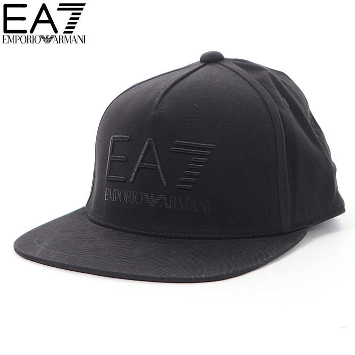 エンポリオアルマーニ EA7 EMPORIO ARMANI ベースボールキャップ 帽子 メンズ 275694 8A818 ブラック 2018秋冬セール