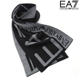 エンポリオアルマーニ EA7 EMPORIO ARMANI ニットマフラー メンズ ブラック 275561 8A301
