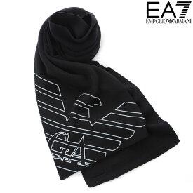 エンポリオアルマーニ EA7 EMPORIO ARMANI ニットマフラー メンズ ブラック 275804 8A302