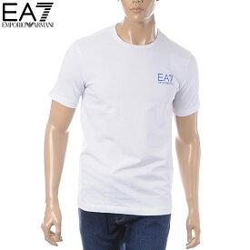 エンポリオアルマーニ EMPORIO ARMANI EA7 クルーネックTシャツ 半袖 メンズ 3GPT08 PJ03Z ホワイト