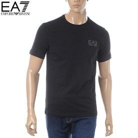 エンポリオアルマーニ EMPORIO ARMANI EA7 クルーネックTシャツ 半袖 メンズ 3GPT08 PJ03Z ブラック