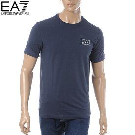 エンポリオアルマーニ EMPORIO ARMANI EA7 クルーネックTシャツ 半袖 メンズ 3GPT08 PJ03Z ネイビー
