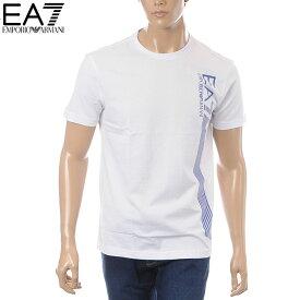 エンポリオアルマーニ EMPORIO ARMANI EA7 クルーネックTシャツ 半袖 メンズ 3GPT67 PJ02Z ホワイト