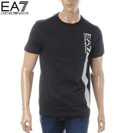 エンポリオアルマーニ EMPORIO ARMANI EA7 クルーネックTシャツ 半袖 メンズ 3GPT67 PJ02Z ブラック