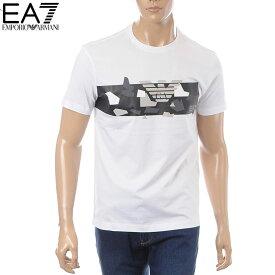 エンポリオアルマーニ EMPORIO ARMANI EA7 クルーネックTシャツ 半袖 メンズ 3GPT09 PJT7Z ホワイト
