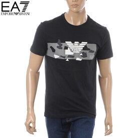 エンポリオアルマーニ EMPORIO ARMANI EA7 クルーネックTシャツ 半袖 メンズ 3GPT09 PJT7Z ブラック