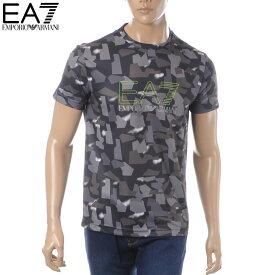 エンポリオアルマーニ EMPORIO ARMANI EA7 クルーネックTシャツ 半袖 メンズ 3GPT17 PJR2Z グレー 2019春夏新作