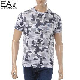 エンポリオアルマーニ EMPORIO ARMANI EA7 クルーネックTシャツ 半袖 メンズ 3GPT17 PJR2Z ホワイト 2019春夏新作