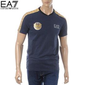 エンポリオアルマーニ EMPORIO ARMANI EA7 クルーネックTシャツ 半袖 メンズ 3GPT34 PJL2Z ネイビー